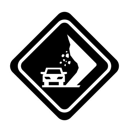 道路交通信号のアイコン ベクトル イラスト デザインの地すべり 写真素材 - 77466841
