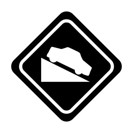 트랙 교통 신호 아이콘 벡터 일러스트 디자인에 오르막 일러스트