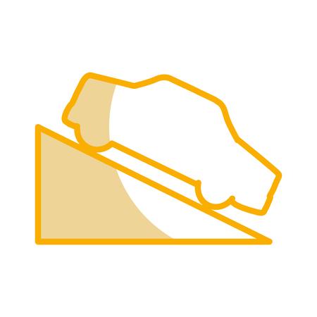 Ascent on track traffic signal icon vector illustration design