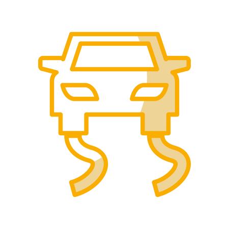 Het gladde ontwerp van de het pictogram vectorillustratie van het wegverkeersignaal Stock Illustratie