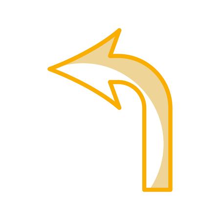 左矢印信号アイコン ベクトル イラスト デザインをオンに 写真素材 - 77586880