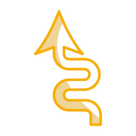 カーブ矢印信号アイコン ベクトル イラスト デザイン 写真素材 - 77714316