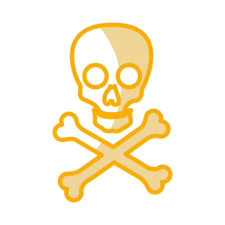 skull danger sign icon vector illustration design Reklamní fotografie - 77466628