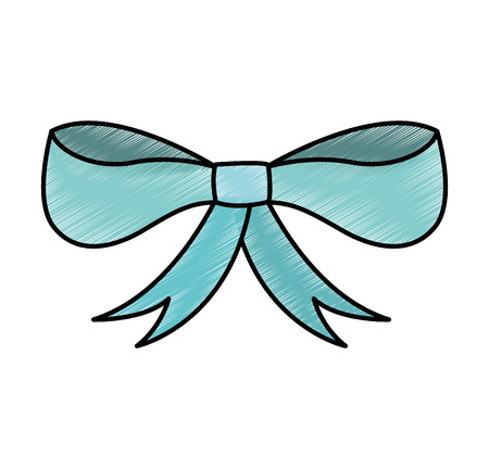 ribbon bow isolated icon vector illustration design