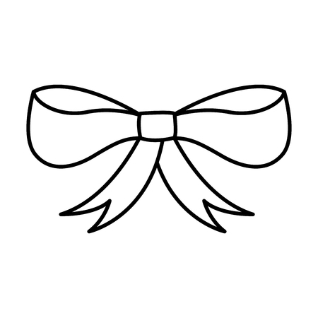 A ribbon bow isolated icon vector illustration design