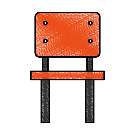 comfort classroom: school chair isolated icon vector illustration design