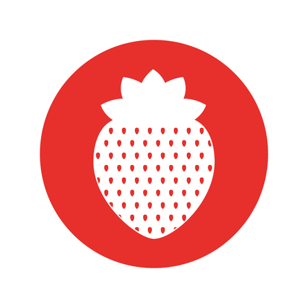 Strawberry fresh fruit isolated icon vector illustration design.