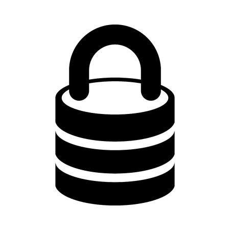 Safe secure padlock icon vector illustration design. Illustration