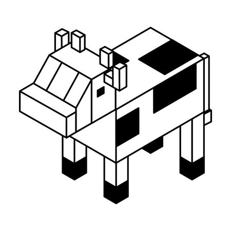 A cow isometric isolated icon vector illustration design Banco de Imagens - 77473316