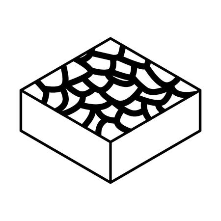 infertile terrain isometric icon vector illustration design