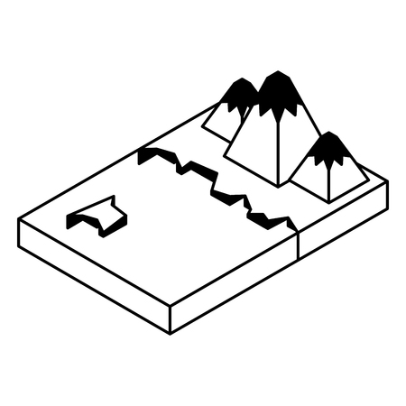 Artic terrain isometric icon vector illustration design.