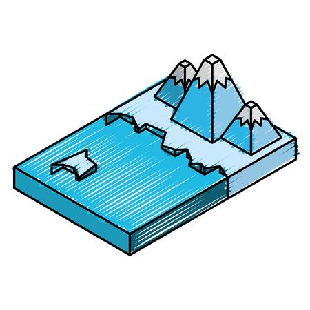 A artic terrain isometric icon vector illustration design Ilustração