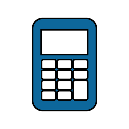 Calculator math device icon vector illustration graphic design Иллюстрация