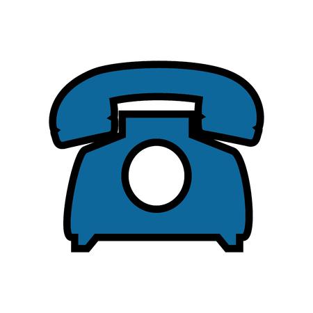 Telephone communication device icon vector illustration graphic design