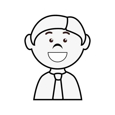 investment concept: Businessman cartoon profile icon vector illustration graphic design