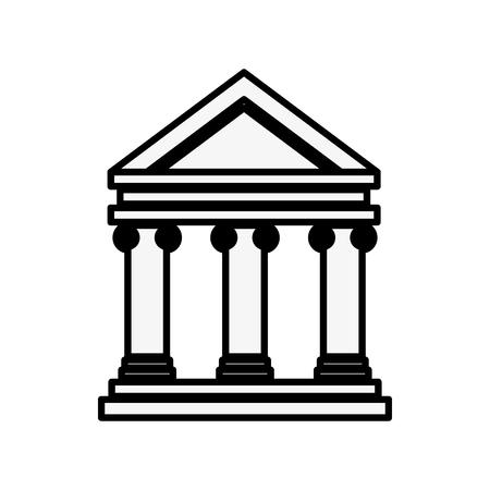 은행 건물 기호 아이콘 벡터 일러스트 그래픽 디자인