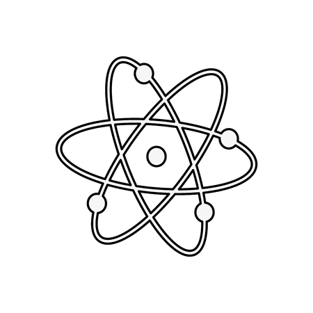 Atom molecule science icon vector illustration graphic design