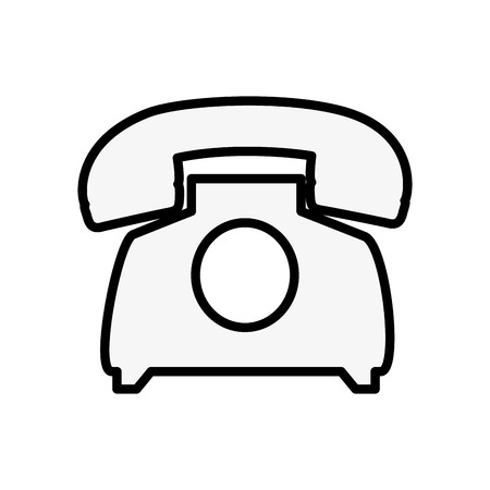 Telephone communication device icon vector illustration graphic design