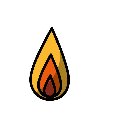 fire flame icon over white background. colorful design. vector illustration Ilustração