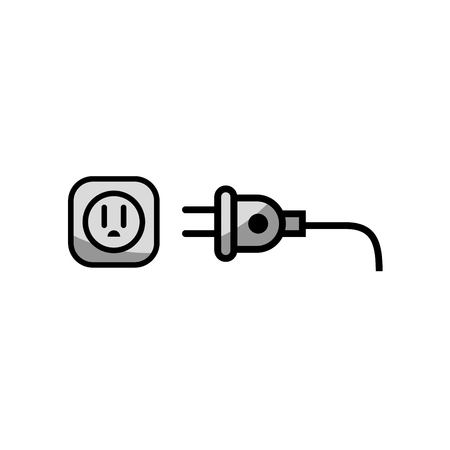 electric plug icon over white background. vector illustration Иллюстрация