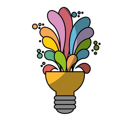 creatieve lamp pictogram op witte achtergrond. kleurrijk ontwerp. vectorillustratie