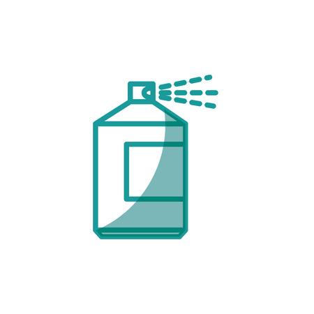 spray bottle icon over white background. vector illustration Illustration