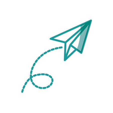 白い背景上の paperplane アイコン。ベクトル図