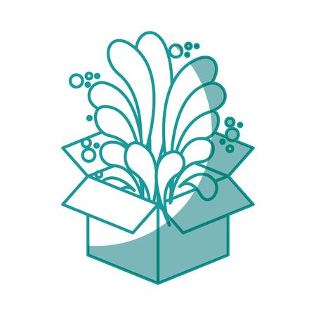 box icon over white background. vector illustration