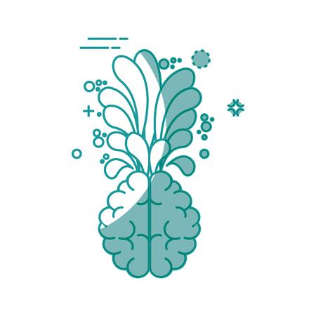 creative brain icon over white background. vector illustration