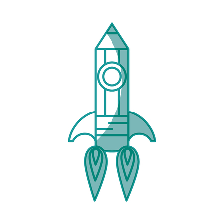 pencil rocket icon over white background. vector illustration Stok Fotoğraf - 77495792