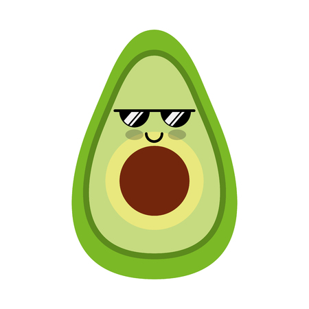 avocado fresh vegetable kawaii character vector illustration design Ilustracja