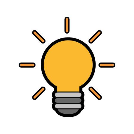 gloeilamp licht pictogram op witte achtergrond. kleurrijk ontwerp. vectorillustratie