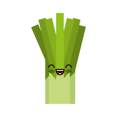 celery fresh vegetable kawaii character vector illustration design