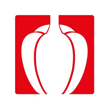 peppers fresh vegetable icon vector illustration design Illustration