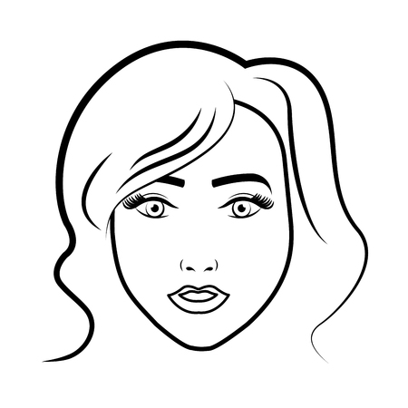 beuty: young woman pop art character vector illustration design Illustration