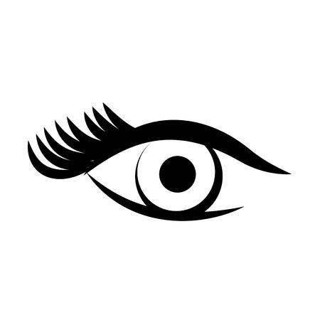 sexy female eye icon vector illustration design Illustration