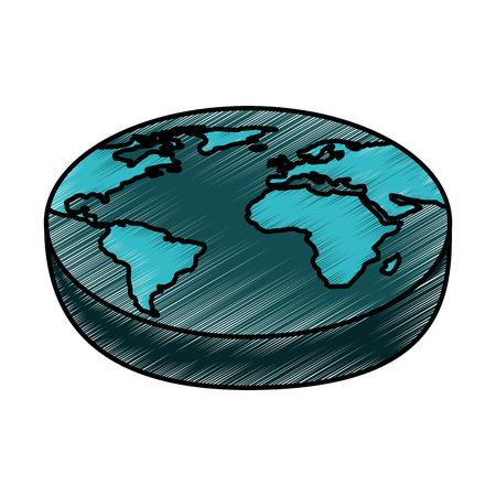 world planet isometric icon vector illustration design