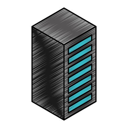 server tower isometric icon vector illustration design Illustration