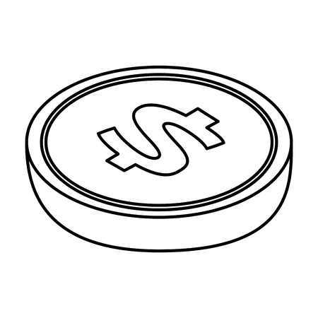 investment concept: coin money isometric icon vector illustration design Illustration