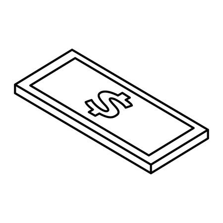 investment concept: bill dollar isometric icon vector illustration design