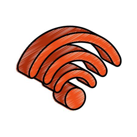 wifi signal isometric icon vector illustration design Illustration