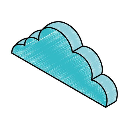 cloud computing isometric icon vector illustration design