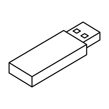 Memoria usb icono isométrico ilustración vectorial de diseño Foto de archivo - 77496068