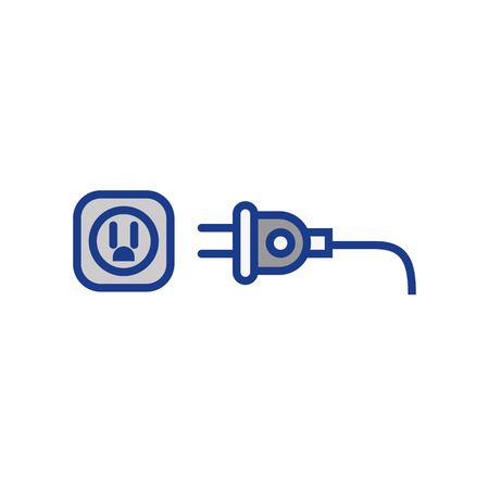 electric plug icon over white background. vector illustration Фото со стока - 77496084