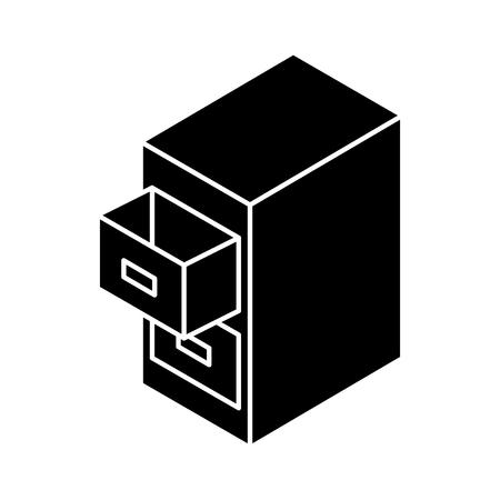 Document filing cabinet isometric vector illustration design Stok Fotoğraf - 77496095