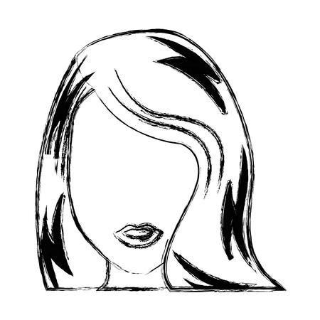 Jonge vrouw pop art karakter vector illustratie ontwerp