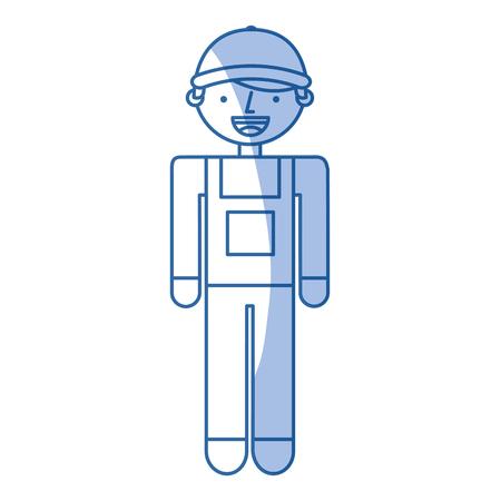 builder constructor avatar character vector illustration design
