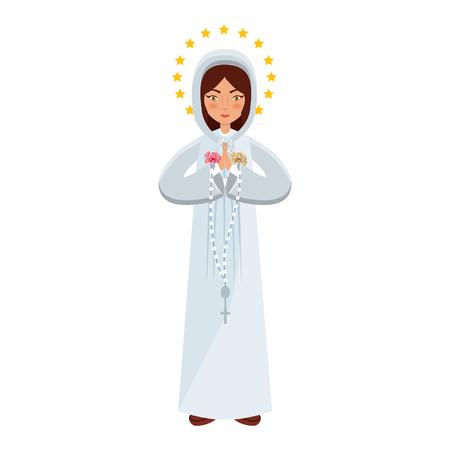 Holy virgin mary icon vector illustration design