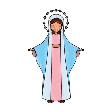 Heiliges Jungfrau Maria Ikonenvektor-Illustrationsdesign