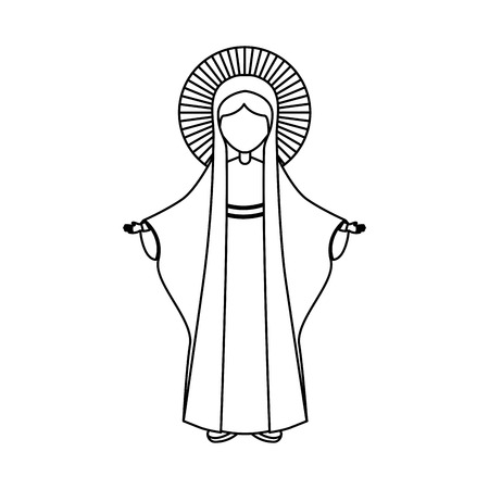 Święty Dziewica dziewicy ikonę mary ikonę ilustracji wektorowych projektowania